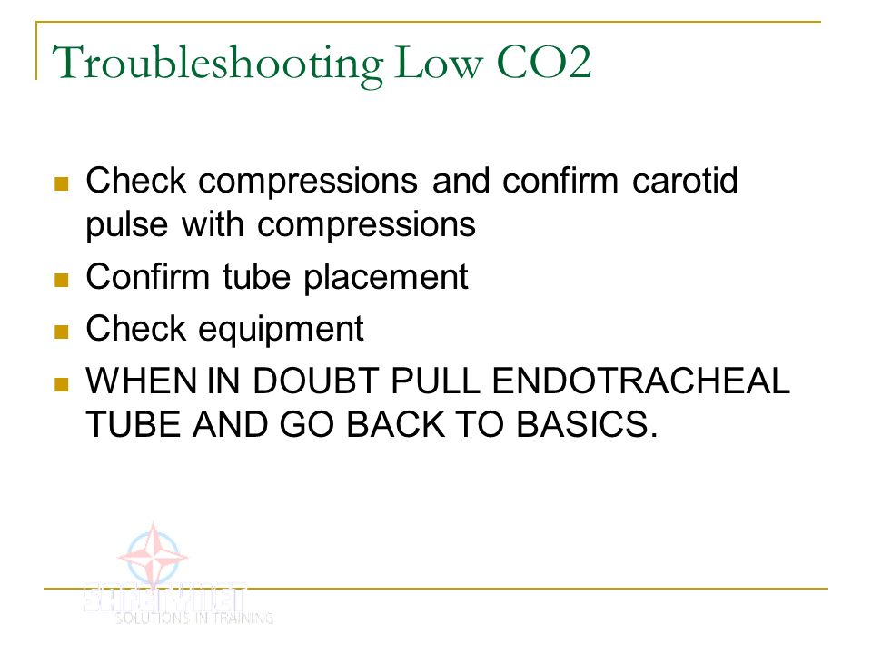 Troubleshooting Low CO2