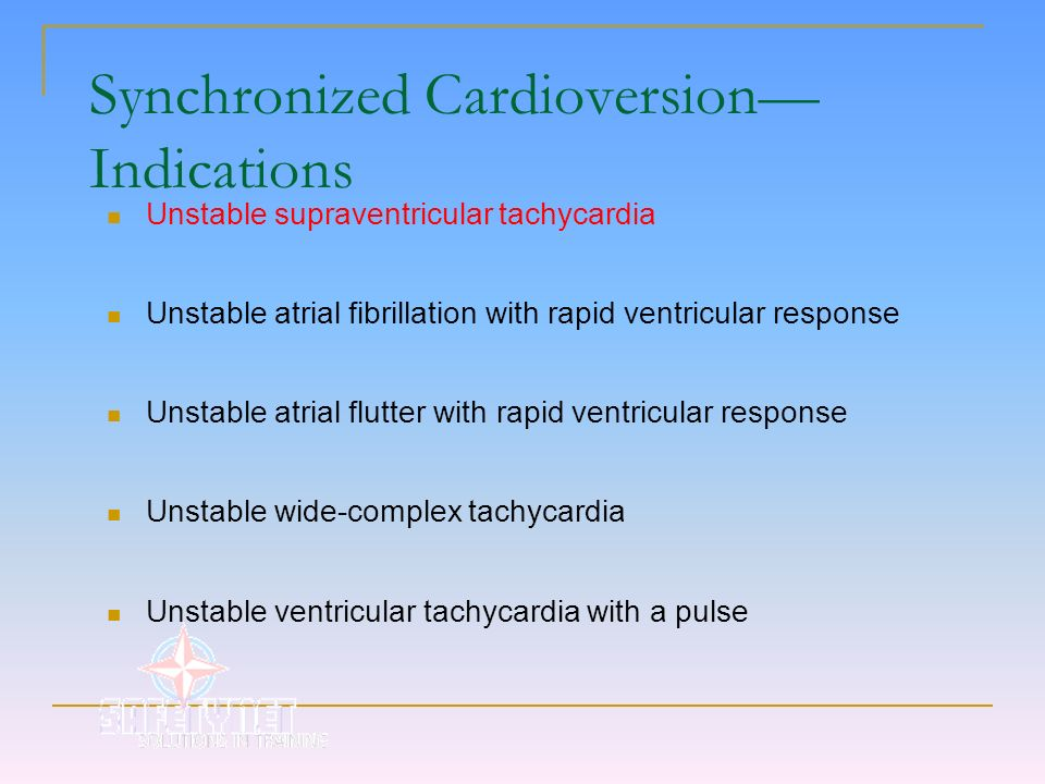 Synchronized Cardioversion—Indications