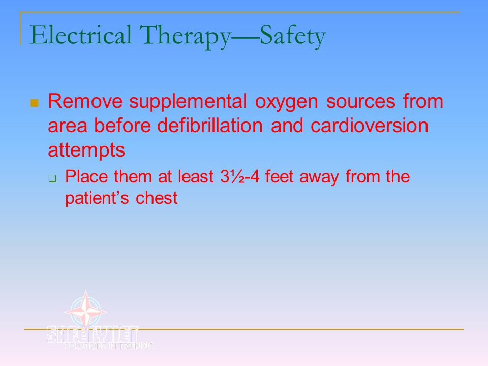 Electrical Therapy—Safety