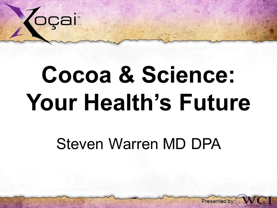 Cocoa & Science: Your Health's Future