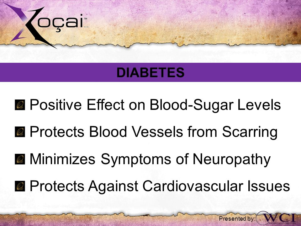 Positive Effect on Blood-Sugar Levels