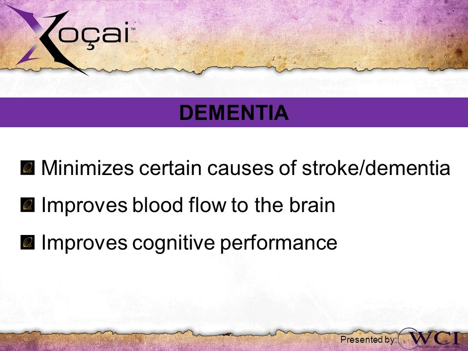 Minimizes certain causes of stroke/dementia