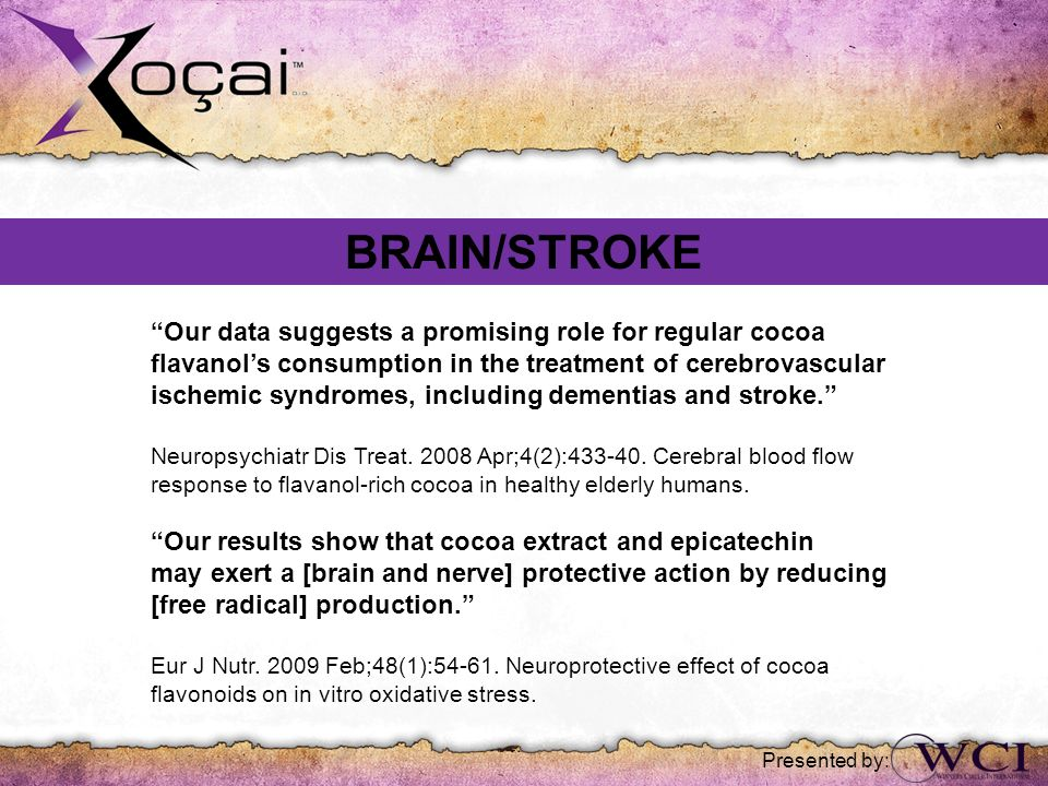 BRAIN/STROKE Our data suggests a promising role for regular cocoa