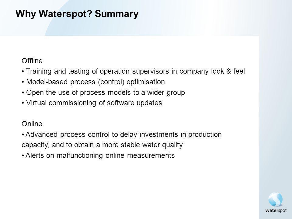 Why Waterspot Summary Offline