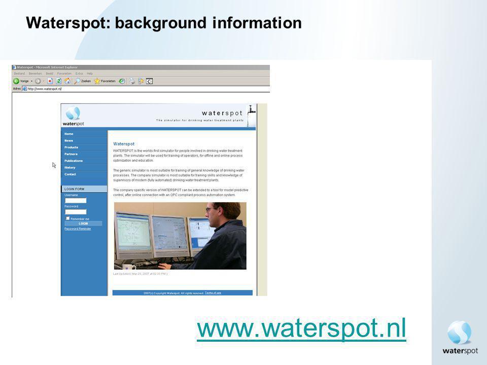 Waterspot: background information
