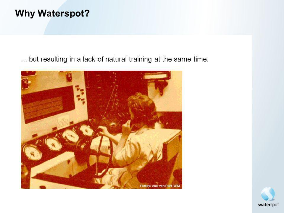 Why Waterspot. ... but resulting in a lack of natural training at the same time.