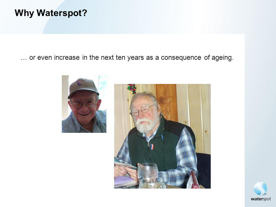 Why Waterspot. … or even increase in the next ten years as a consequence of ageing.