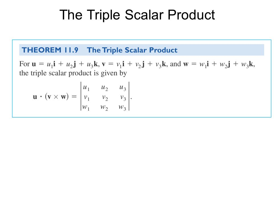The Triple Scalar Product