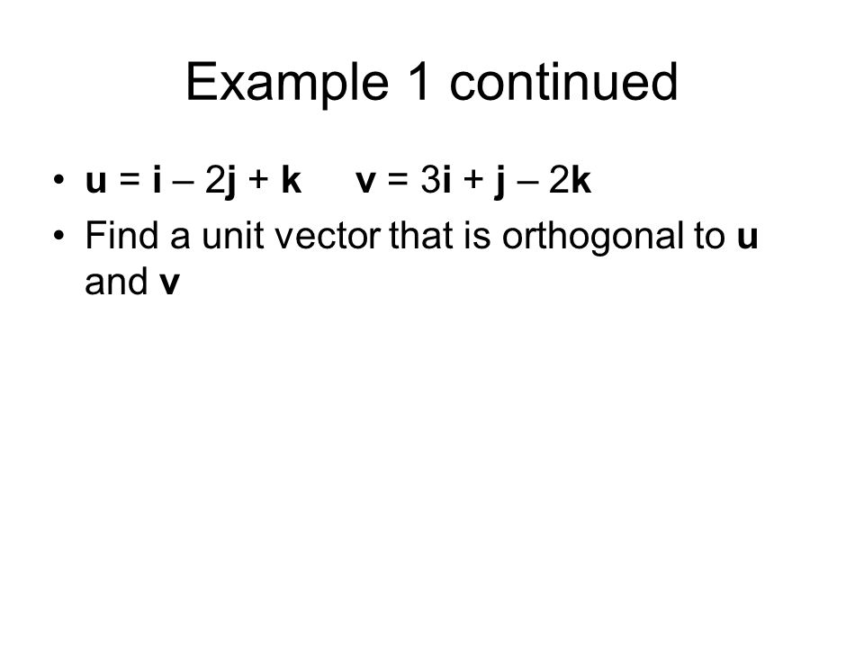 how to find a unit vector perpendicular to two vectors