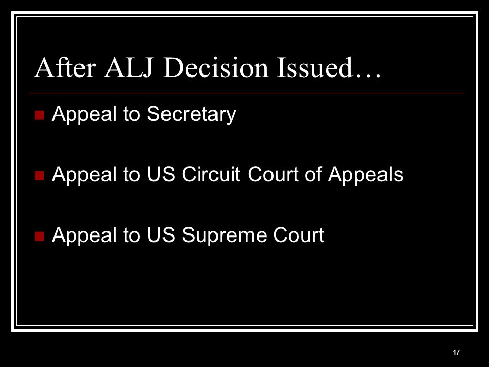 After ALJ Decision Issued…