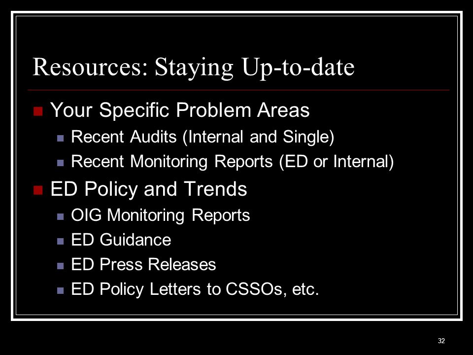 Resources: Staying Up-to-date
