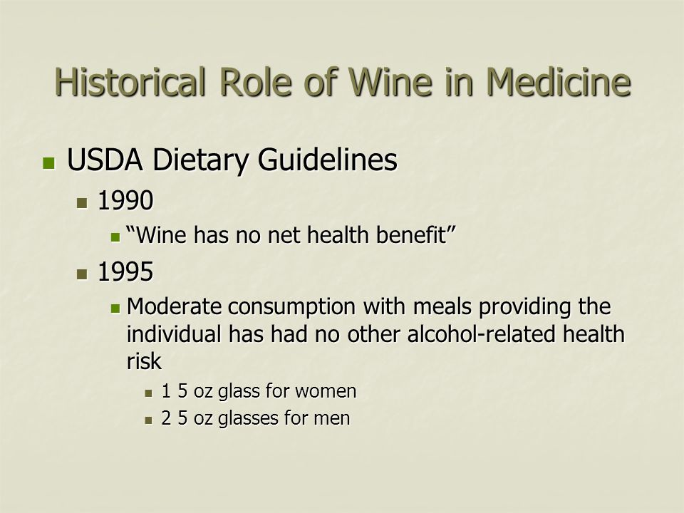 Historical Role of Wine in Medicine