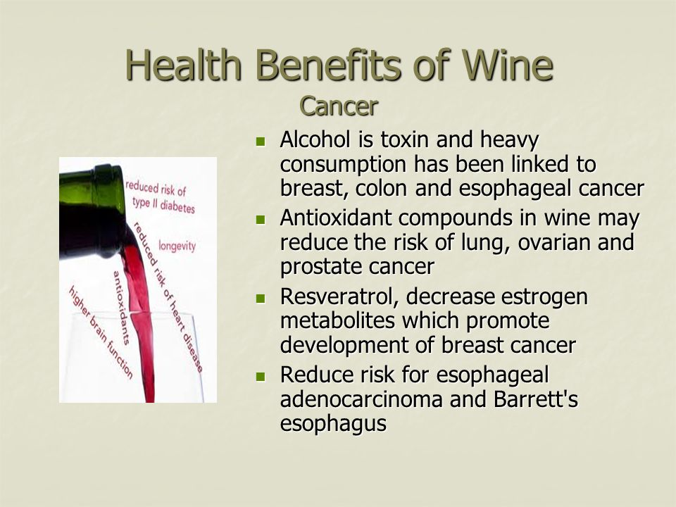 Health Benefits of Wine Cancer