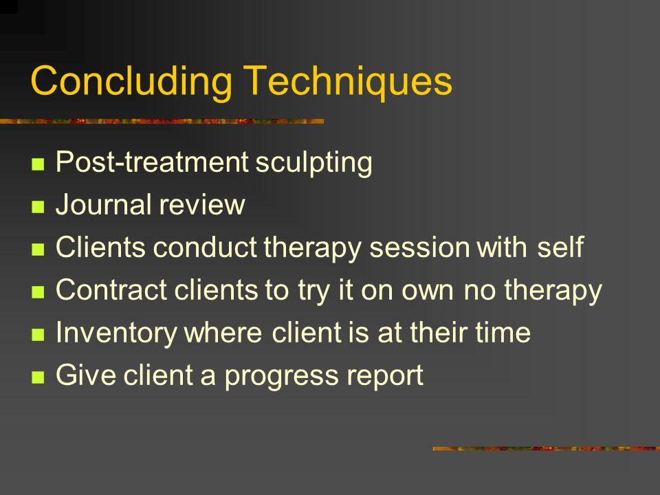 Concluding Techniques