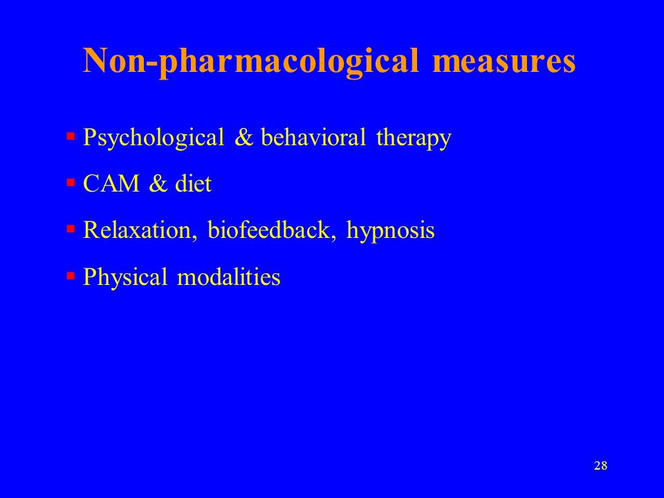 Non-pharmacological measures