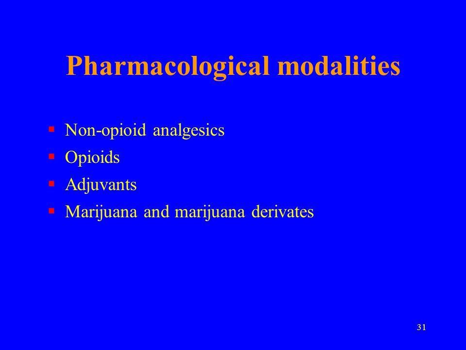 Pharmacological modalities