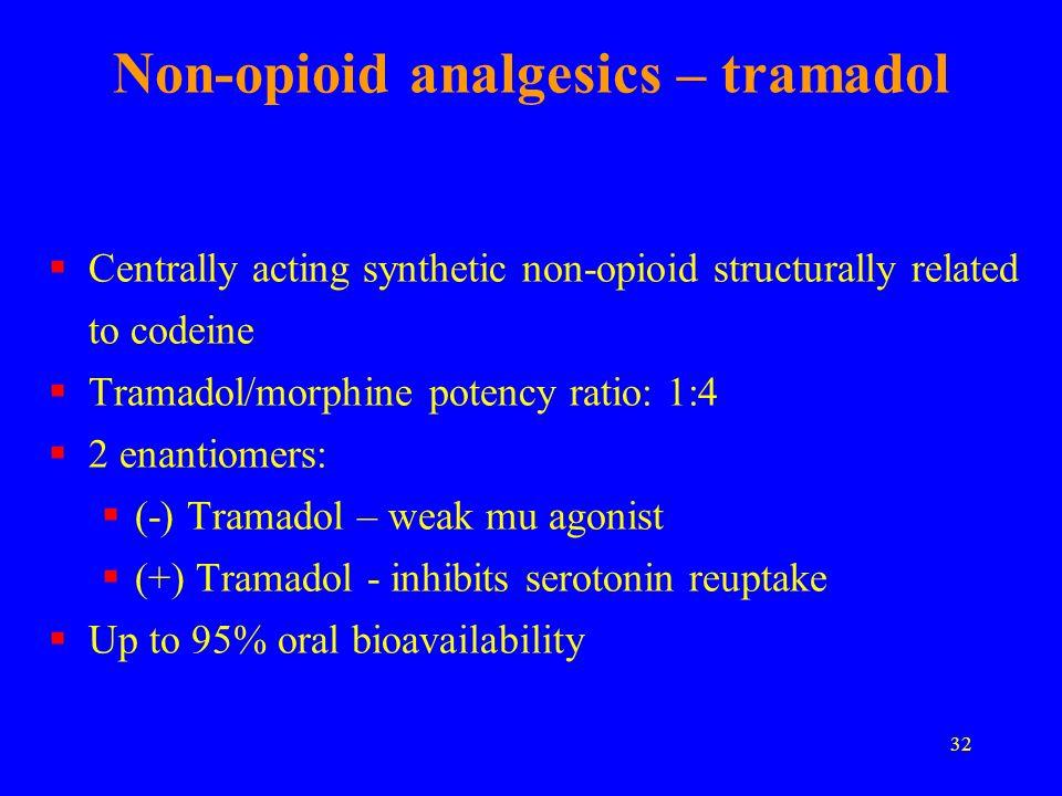 Non-opioid analgesics – tramadol