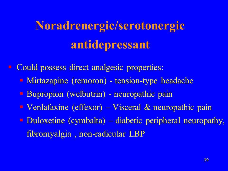 Noradrenergic/serotonergic antidepressant