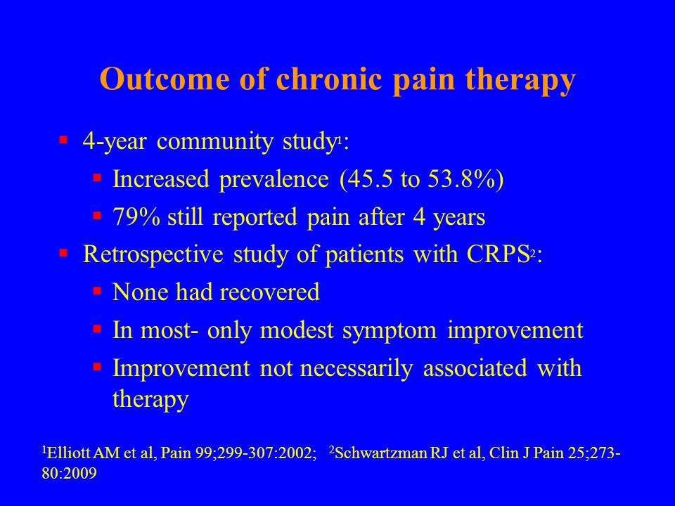 Outcome of chronic pain therapy
