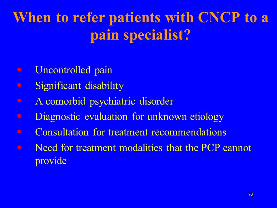 When to refer patients with CNCP to a pain specialist