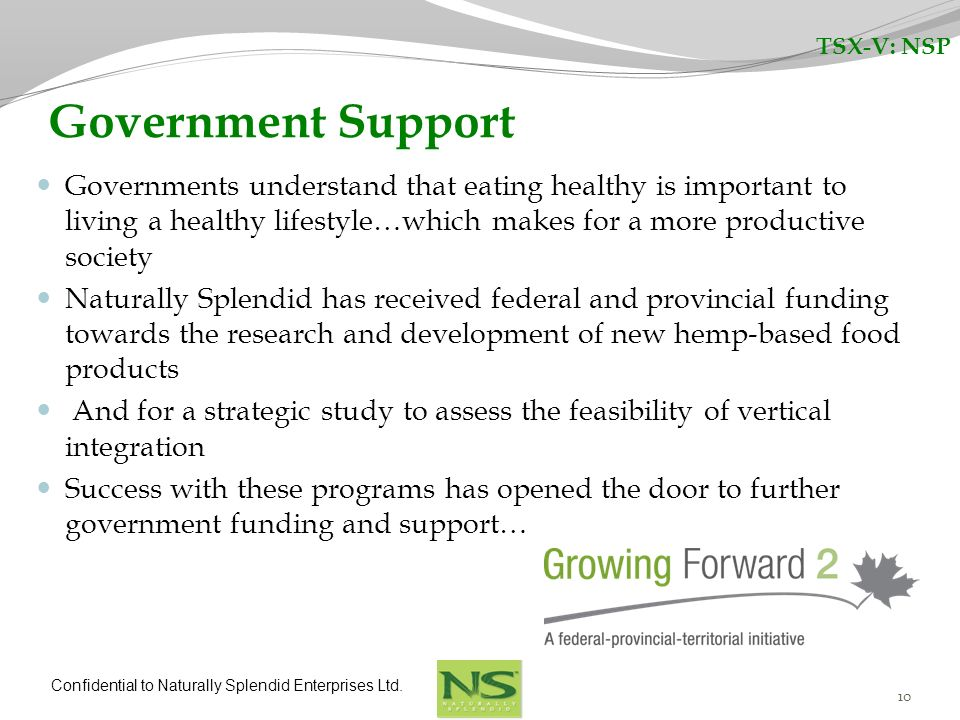 TSX-V: NSP Government Support.