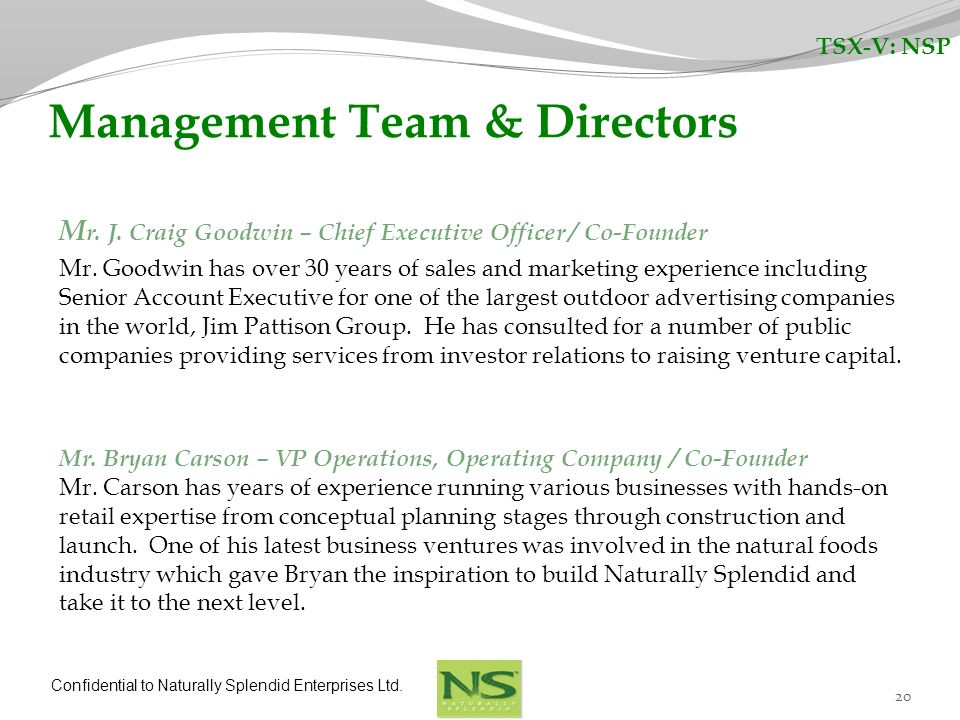Management Team & Directors