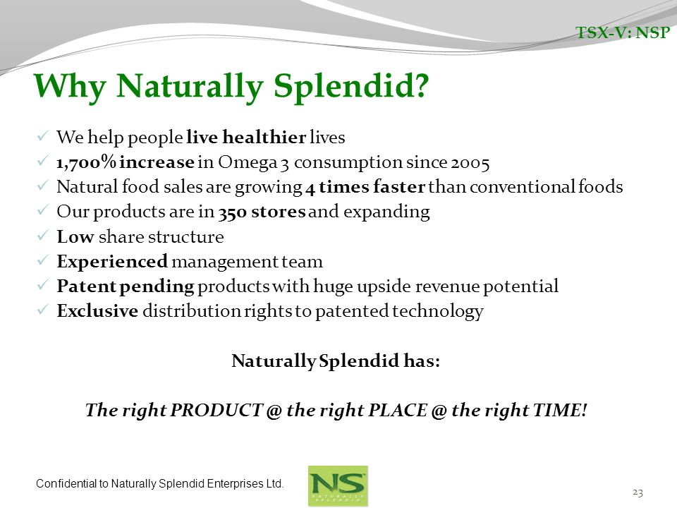 Why Naturally Splendid