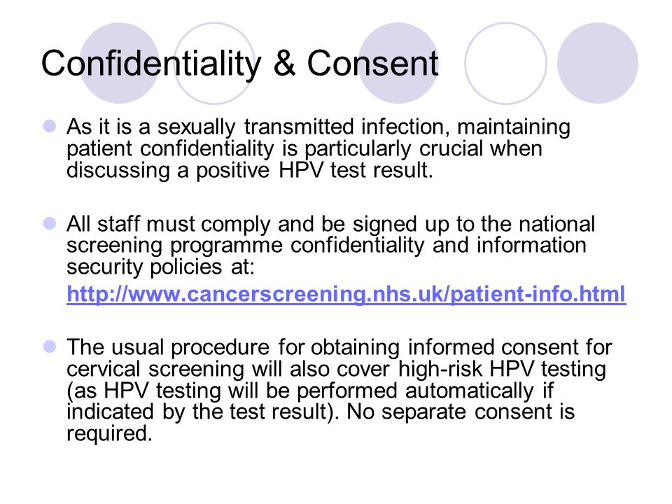 Confidentiality & Consent