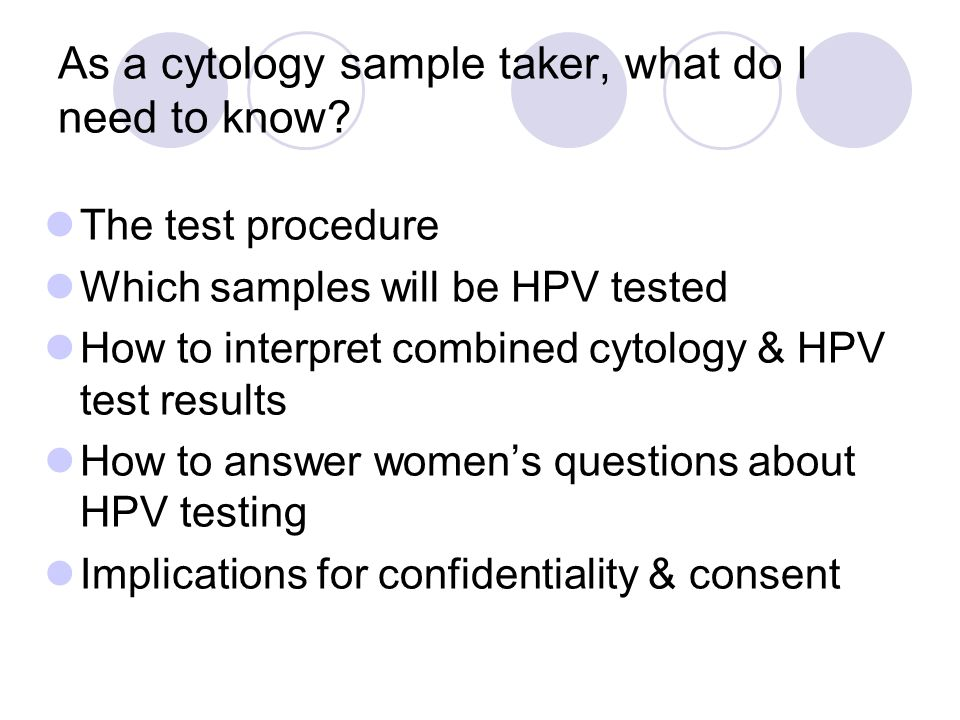 As a cytology sample taker, what do I need to know