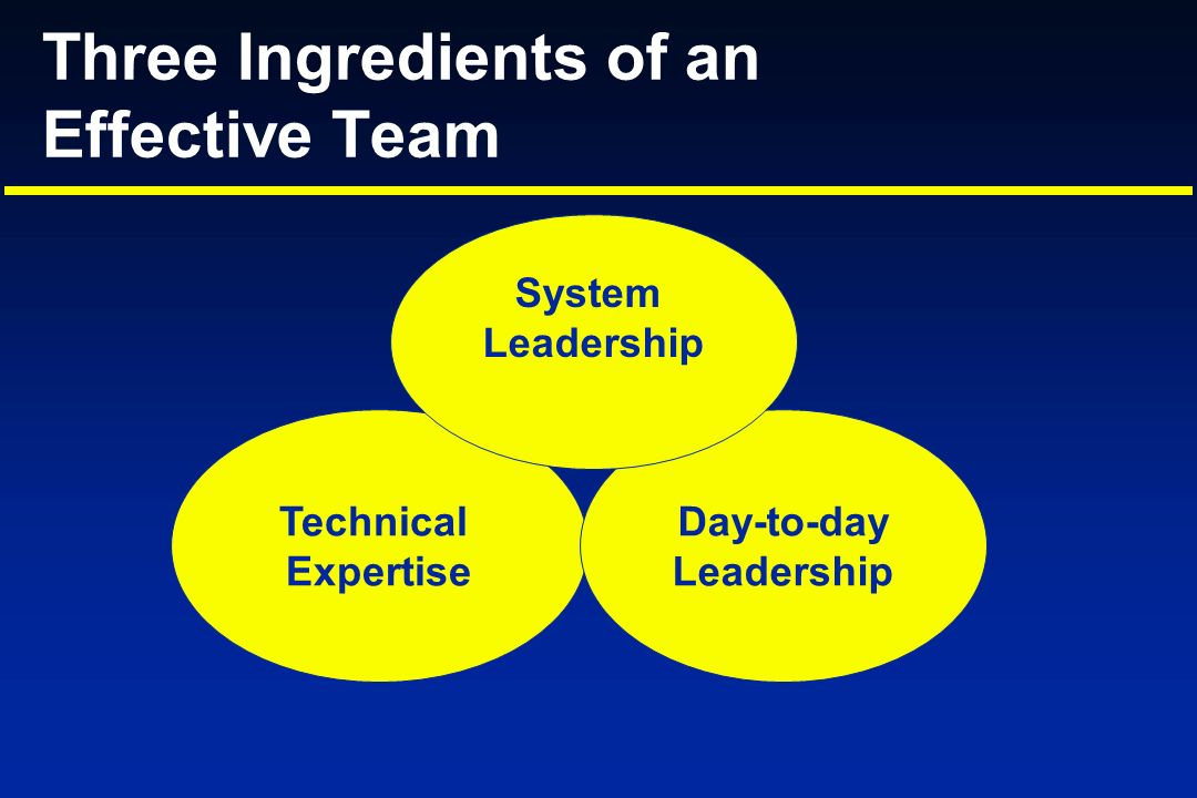 Three Ingredients of an Effective Team