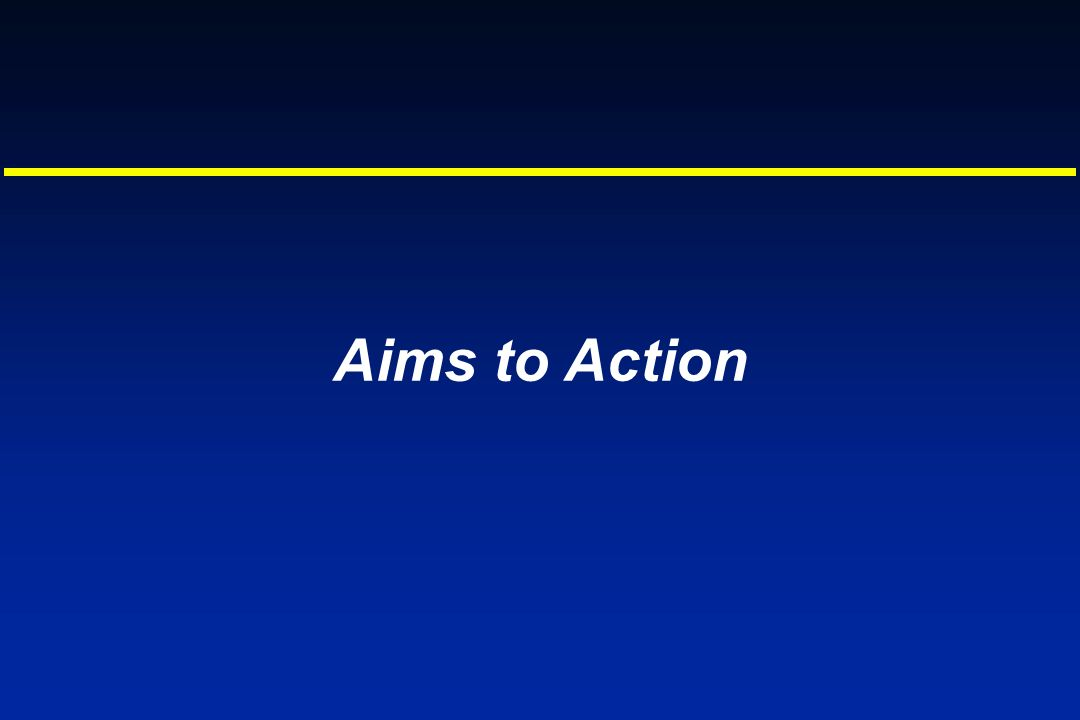 Aims to Action