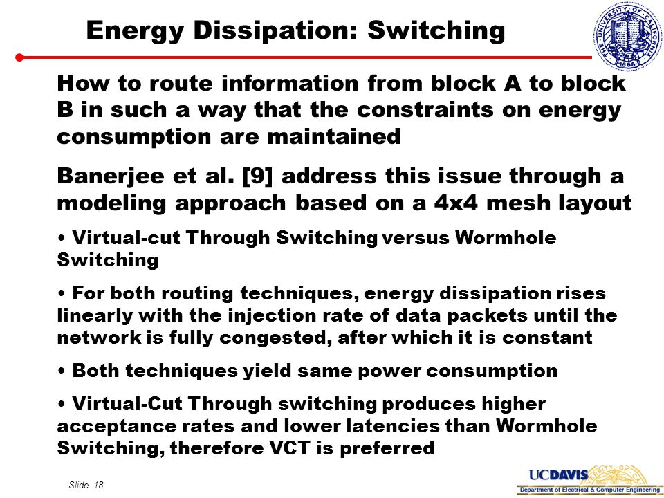 Energy Dissipation: Switching