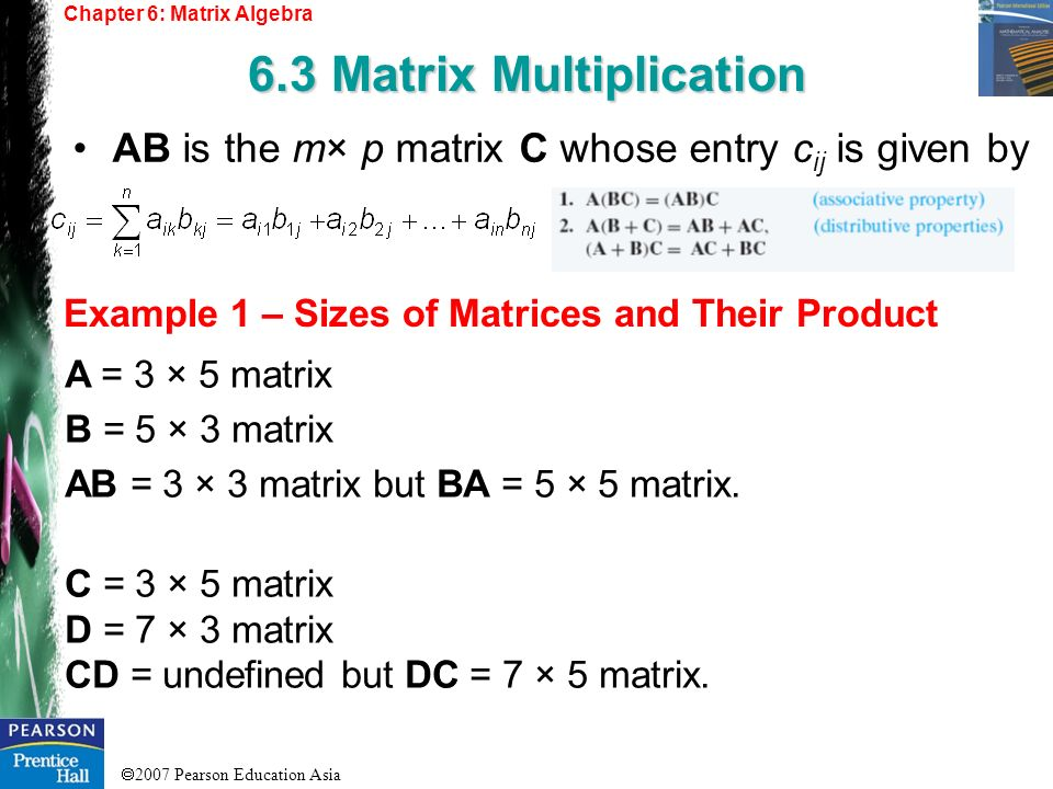 6.3 Matrix Multiplication