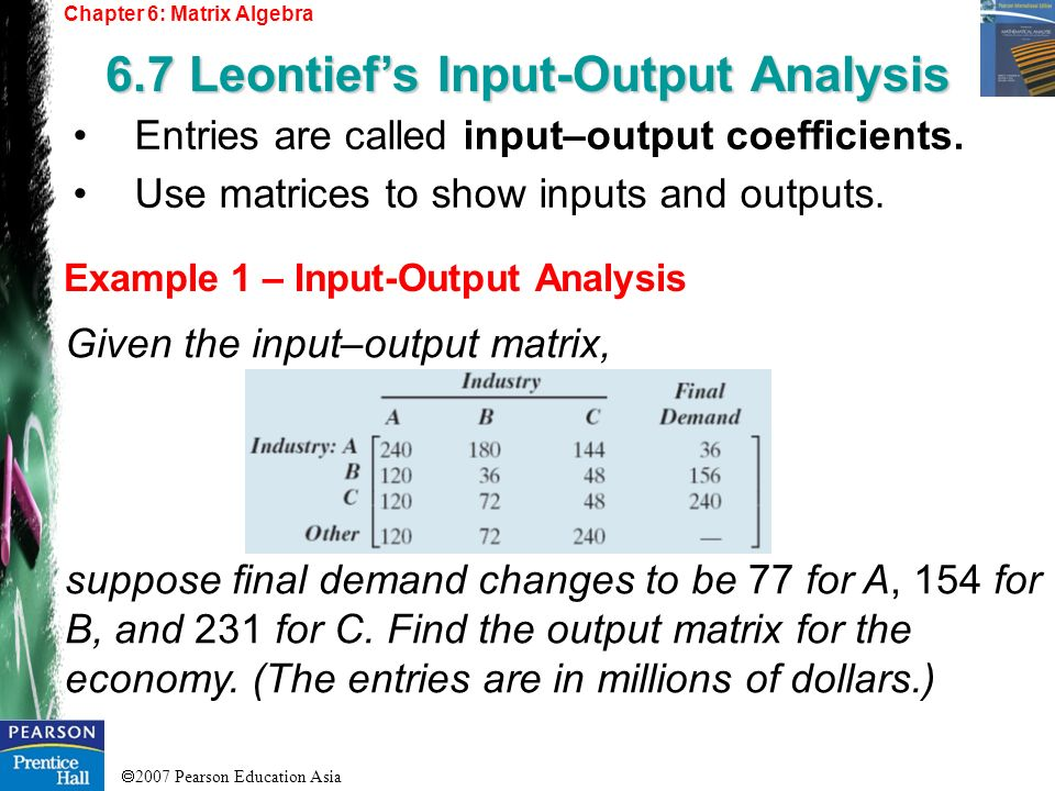 6.7 Leontief's Input-Output Analysis