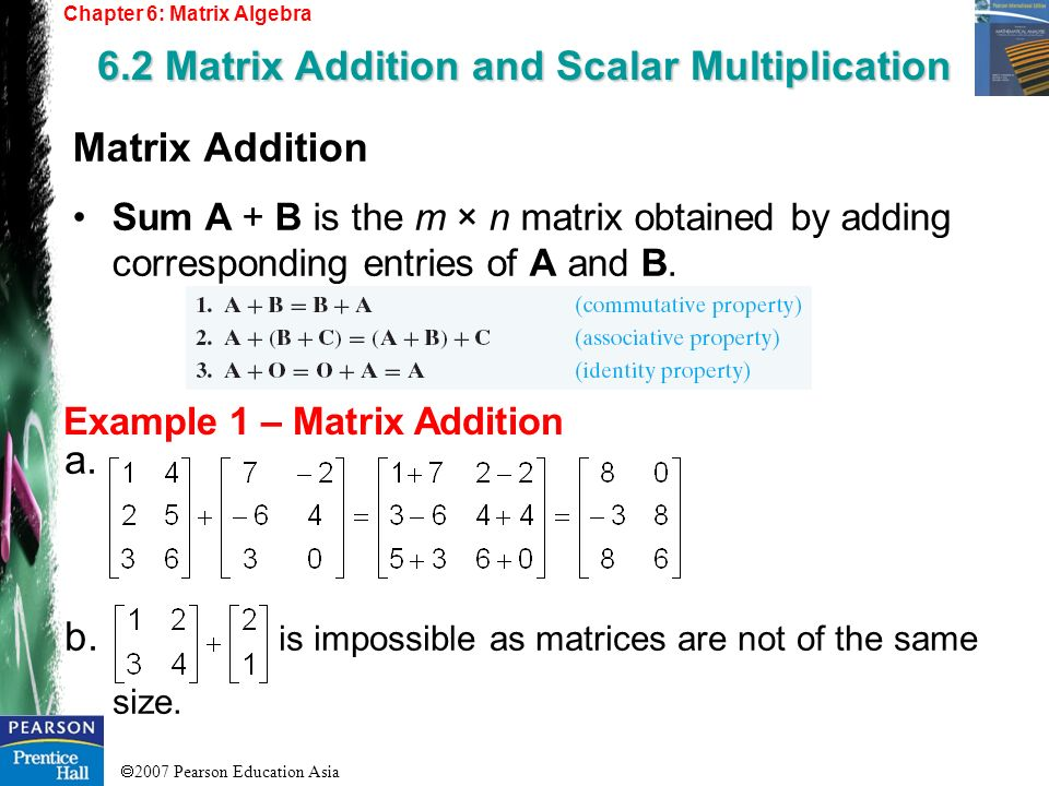 6.2 Matrix Addition and Scalar Multiplication