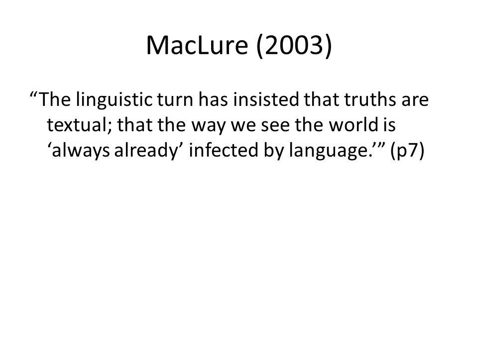 MacLure (2003)