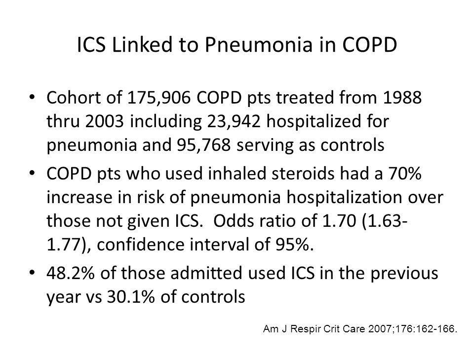 ICS Linked to Pneumonia in COPD