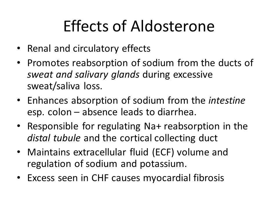 Effects of Aldosterone
