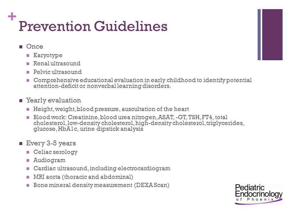 Prevention Guidelines