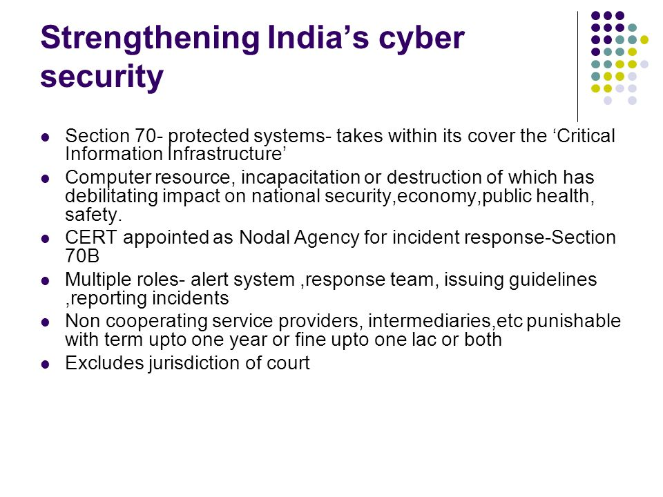 Strengthening India's cyber security