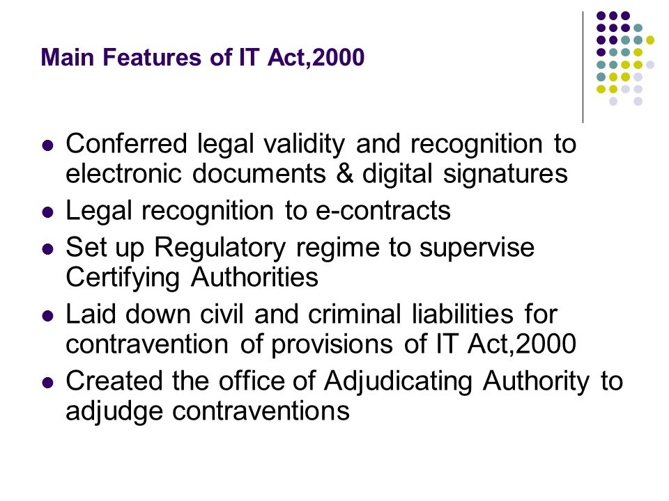 Legal recognition to e-contracts