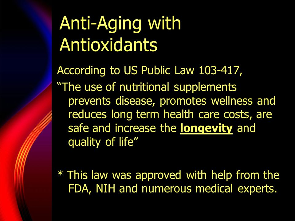 Anti-Aging with Antioxidants