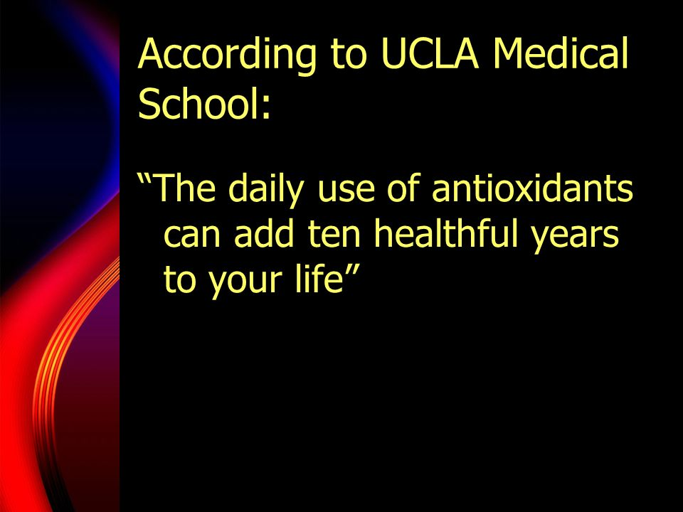 According to UCLA Medical School: