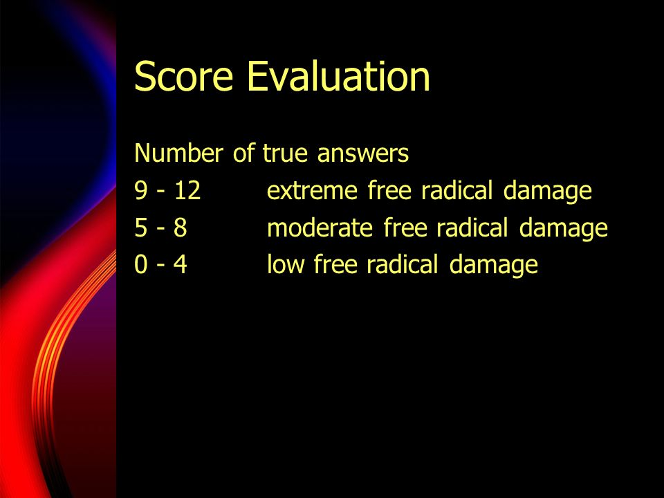 Score Evaluation Number of true answers