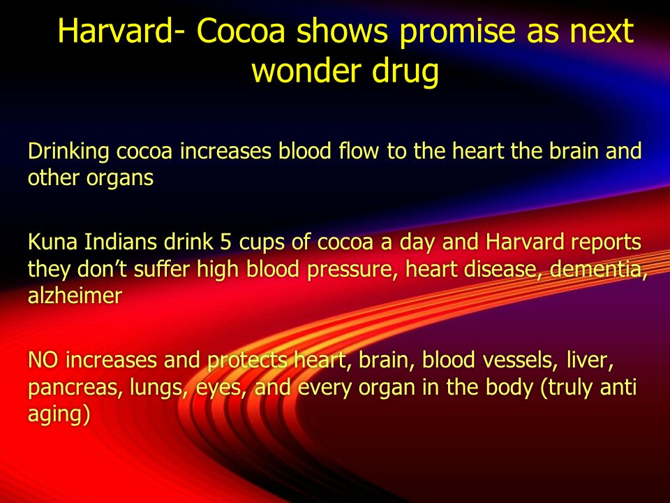 Harvard- Cocoa shows promise as next wonder drug