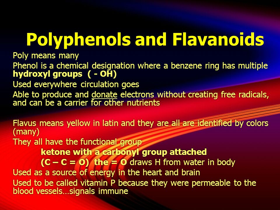 Polyphenols and Flavanoids
