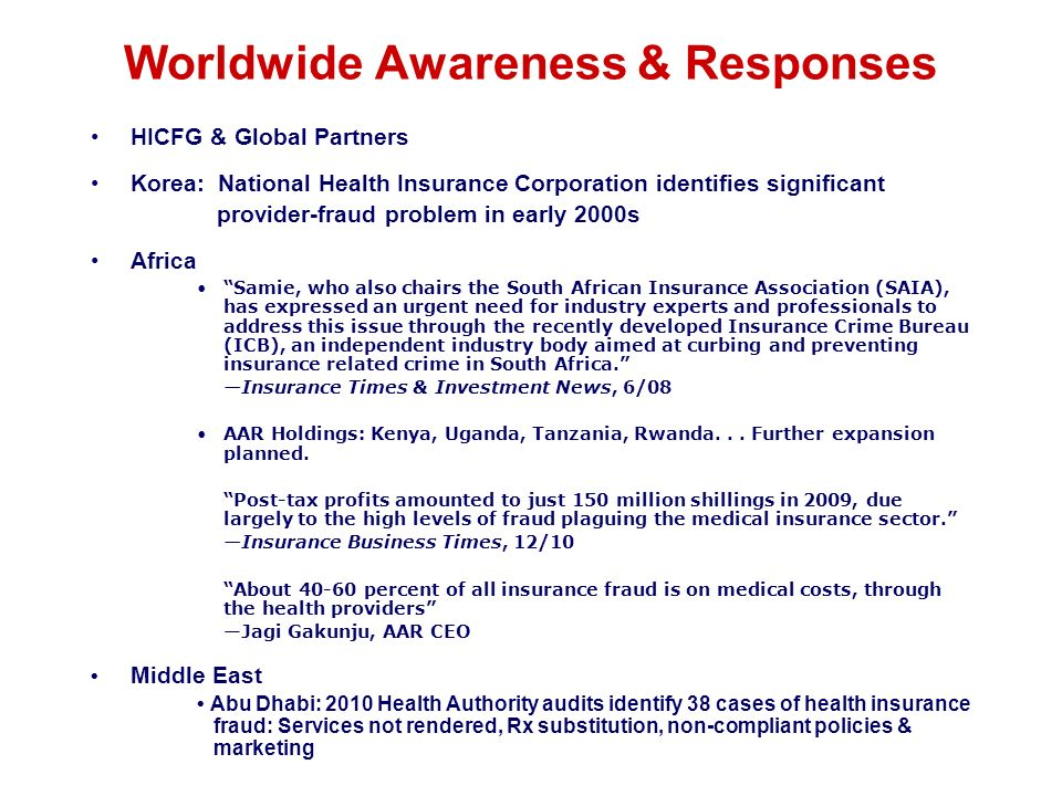 Worldwide Awareness & Responses