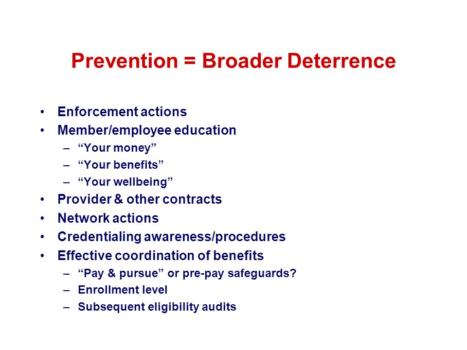 Prevention = Broader Deterrence