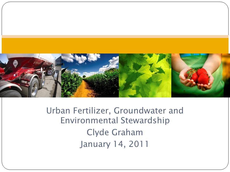 Urban Fertilizer, Groundwater and Environmental Stewardship
