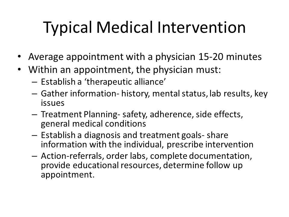 Typical Medical Intervention